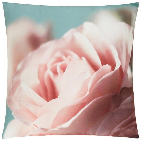 Zierkissen Floris ca. 45x45cm - Rosa/Weiß, ROMANTIK / LANDHAUS, Textil (45/45cm) - MÖMAX modern living