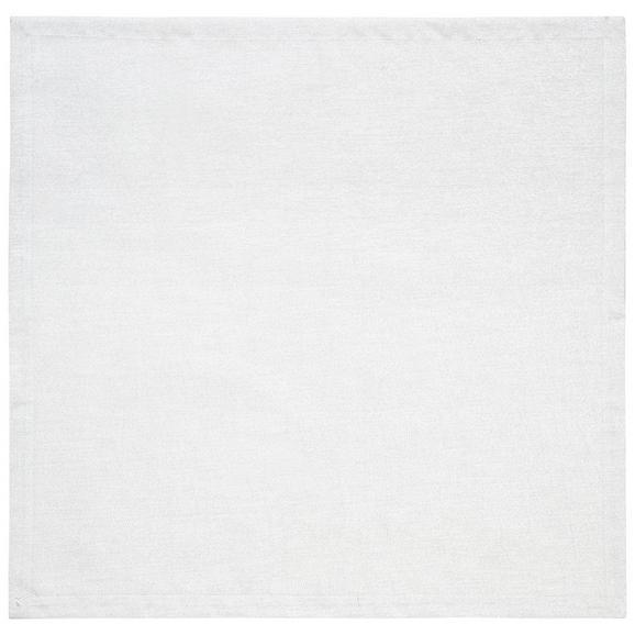 Tischdecke Charlotte in Weiß ca. 85x85cm - Weiß, MODERN, Textil (85/85cm) - Premium Living