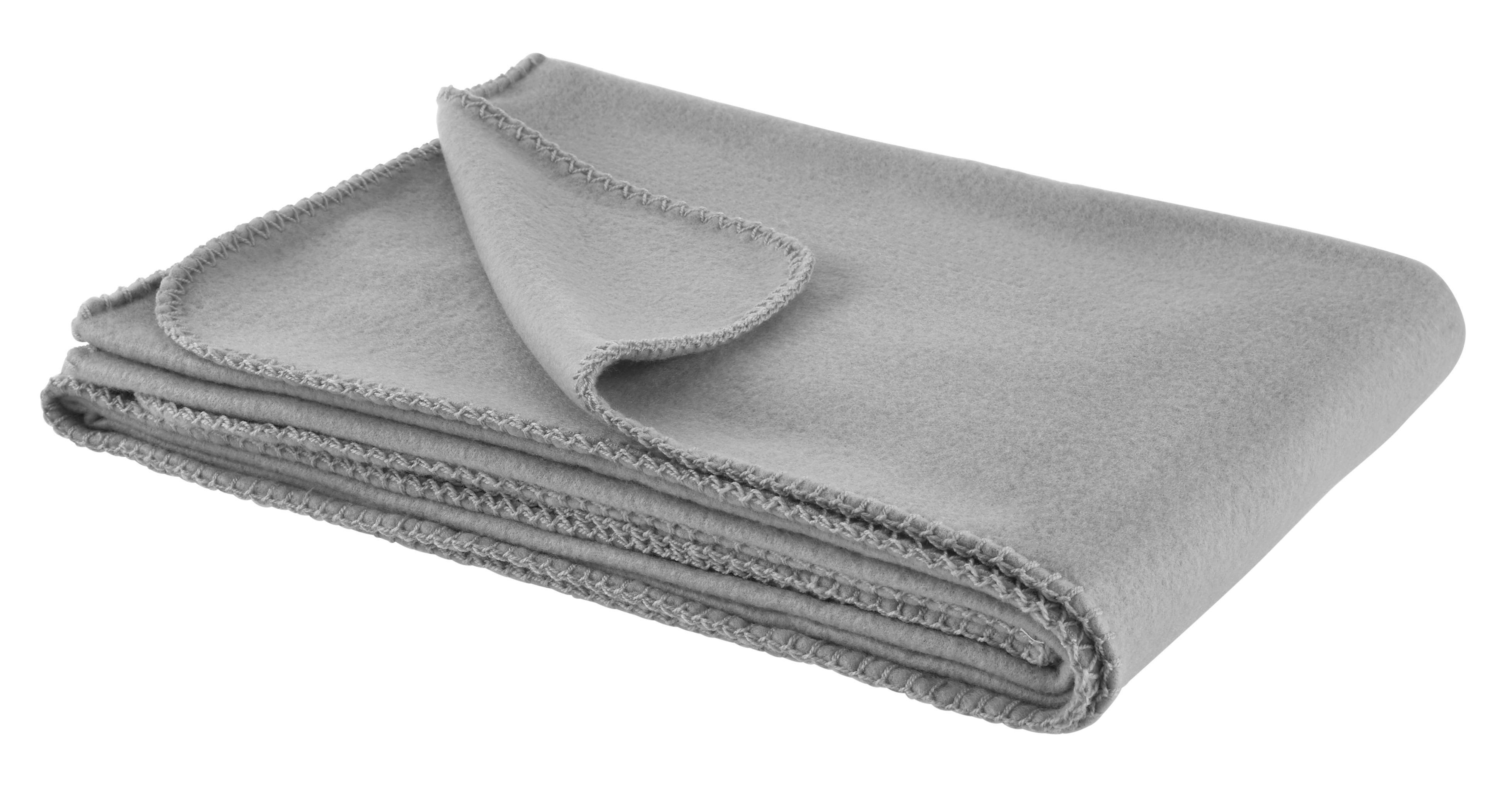 Fleecedecke Anni 130x170cm - Hellgrau, KONVENTIONELL, Textil (130/170cm) - MÖMAX modern living