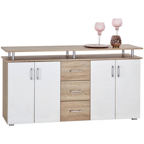 Servantă Lift - alb/culoare lemn stejar, Modern, compozit lemnos/lemn (178/90/38cm)