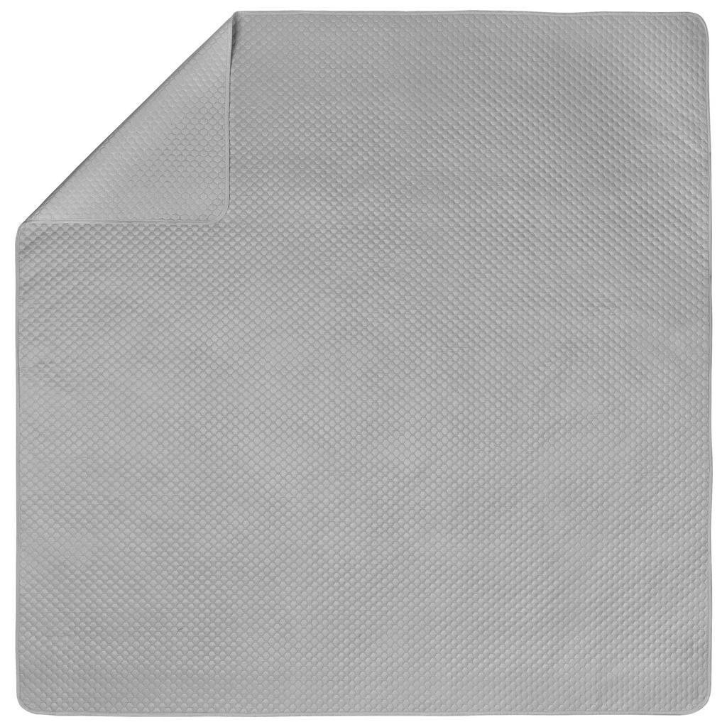 Tagesdecke Grazyna Grau 230x230 cm