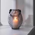 Windlicht Elea Ø/h ca. 18,8/23,8 cm - Hellgrau, MODERN, Glas (18,8/23,8cm) - Mömax modern living