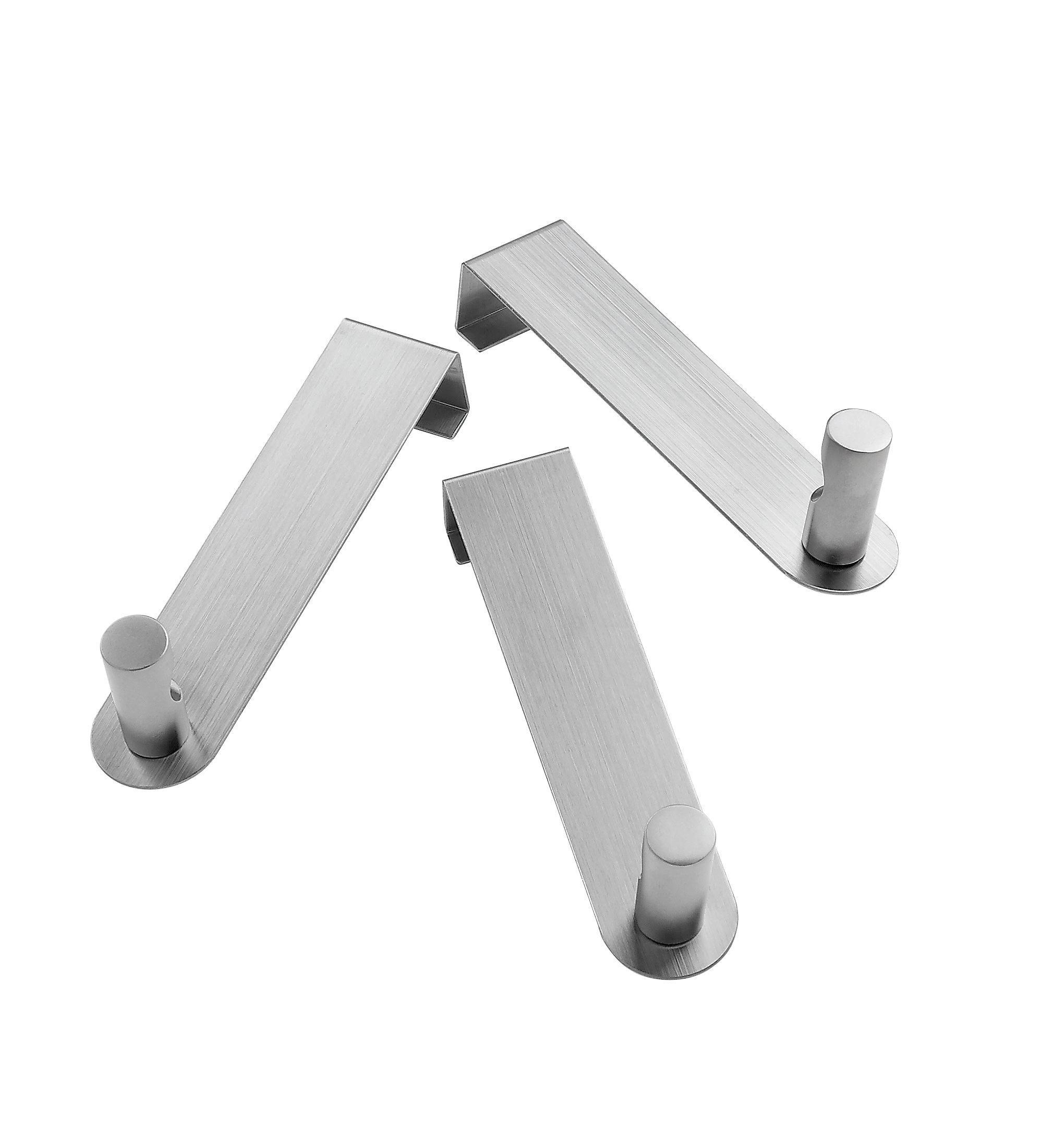 Garderobenhaken in Edelstahlfarben - Edelstahlfarben, Basics, Metall (13,5cm) - MÖMAX modern living