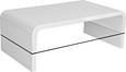 Couchtisch Weiß Hochglanz - Klar/Weiß, MODERN, Glas/Holzwerkstoff (115/40/60cm) - MÖMAX modern living