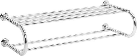 Handtuchhalter in Chromfarben - Chromfarben, Metall (29/15/63cm) - MÖMAX modern living