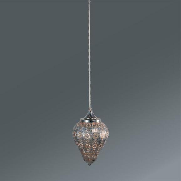 Hängeleuchte Orient 1, max. 40 Watt - Silberfarben, LIFESTYLE, Metall (20/32cm) - MÖMAX modern living