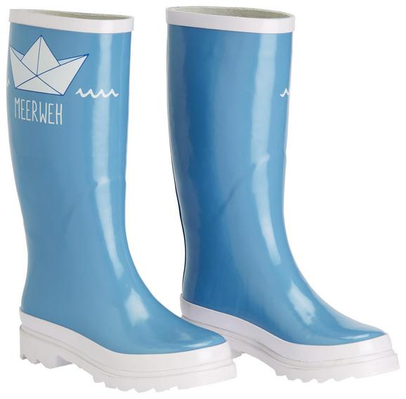 Gummistiefel Rainy Blau - Blau, Design, Kunststoff (20/40/8cm)