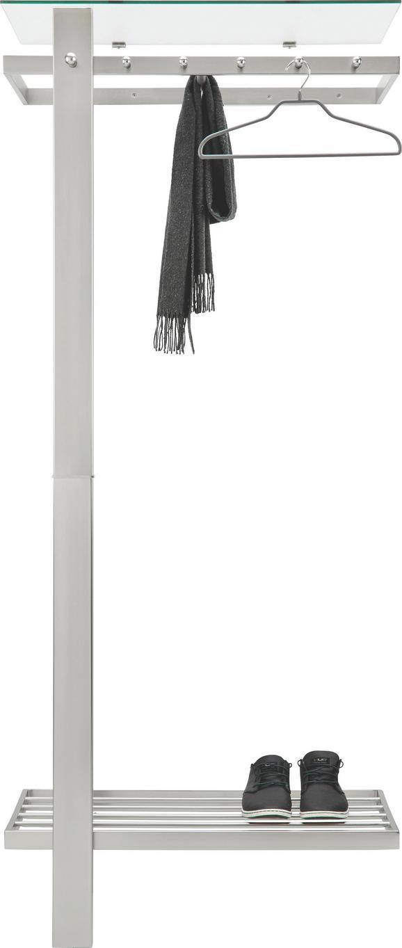 Garderobe Edelstahlfarben - Edelstahlfarben, MODERN, Glas/Metall (80/190/43cm) - Mömax modern living