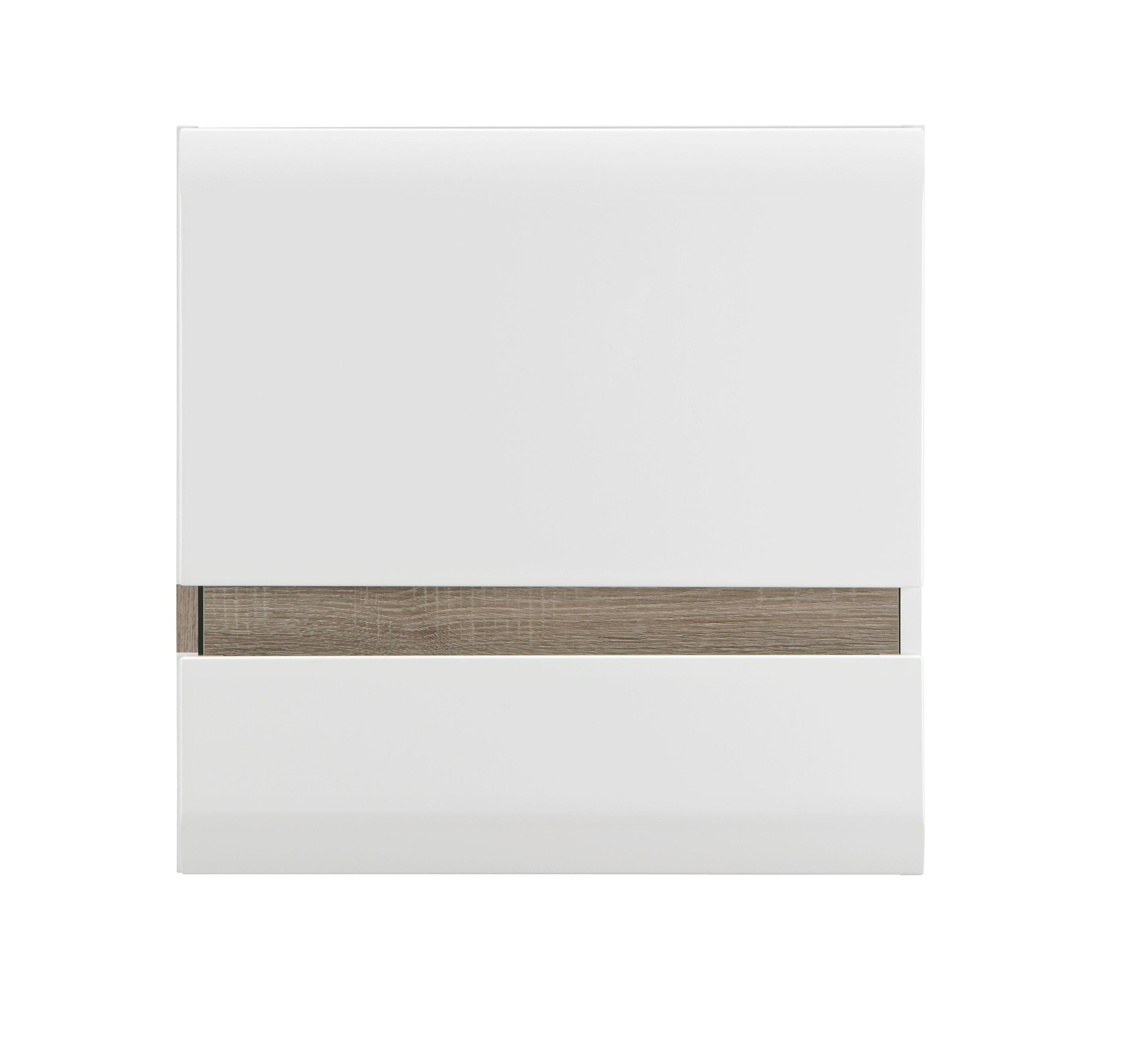 Viseči Element Linate - barva hrasta tartuf/bela, Moderno, leseni material (55/55/28cm) - MÖMAX modern living