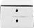 Schubladenbox Amana in Weiß mit 2 Laden - Weiß, MODERN, Textil/Metall (32/21,5/32cm) - MÖMAX modern living