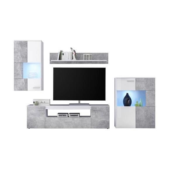 Mobilier Camera De Zi Vulcan - argintiu/alb, Modern, plastic/compozit lemnos (265-295/194/40cm)