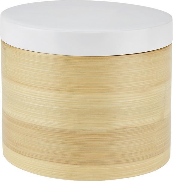 Doboz Naturelle - natúr színek/fehér, fa (14/12cm) - MÖMAX modern living