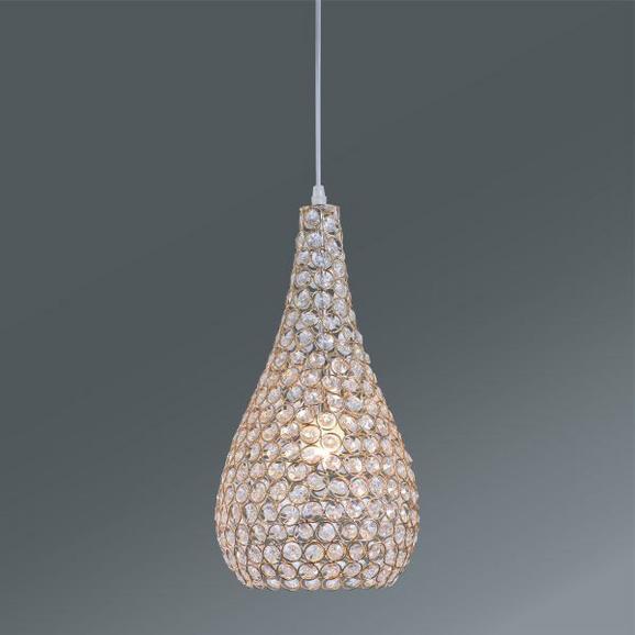 Függőlámpa Shiny - tiszta/réz színek, modern, üveg/fém (20/120cm) - MÖMAX modern living
