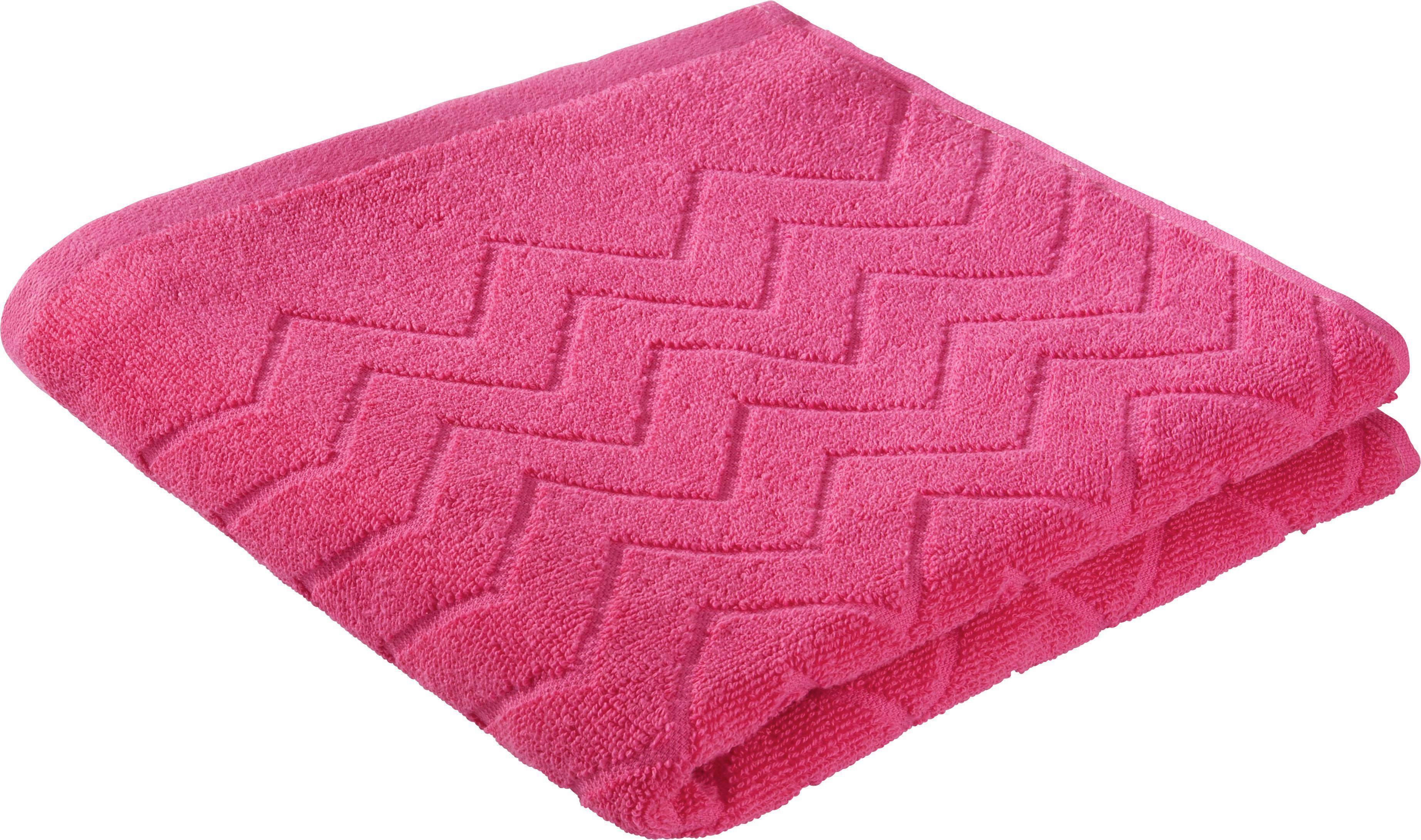 Törölköző Peter - pink, textil (50/100cm) - MÖMAX modern living