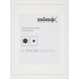 Bilderrahmen Provence, ca. 50x70cm - Weiß, ROMANTIK / LANDHAUS, Glas/Holz (50/70/1,5cm) - Mömax modern living