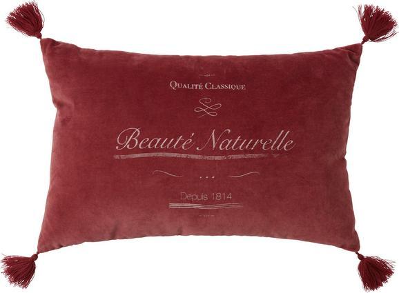 Okrasna Blazina Naturelle - rdeča, Romantika, tekstil (40/60cm) - MÖMAX modern living