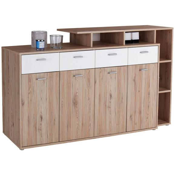 Komoda Tom - aluminij/bela, Moderno, umetna masa/leseni material (190/105/40cm) - Mömax modern living