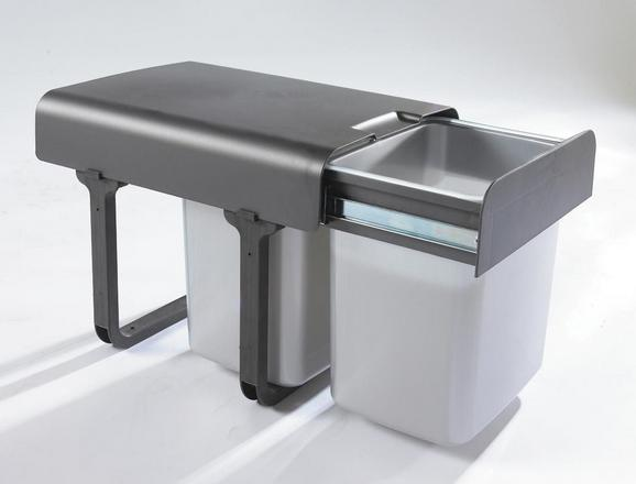 Abfallsammler 780201 - Edelstahlfarben, Kunststoff (35/36/47,8cm)