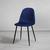 Stuhl Lio - Blau/Schwarz, MODERN, Holz/Textil (43/86/55cm) - Modern Living