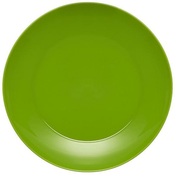 Plitvi Krožnik Sandy - zelena, Konvencionalno, keramika (26,8/2,42cm) - Mömax modern living