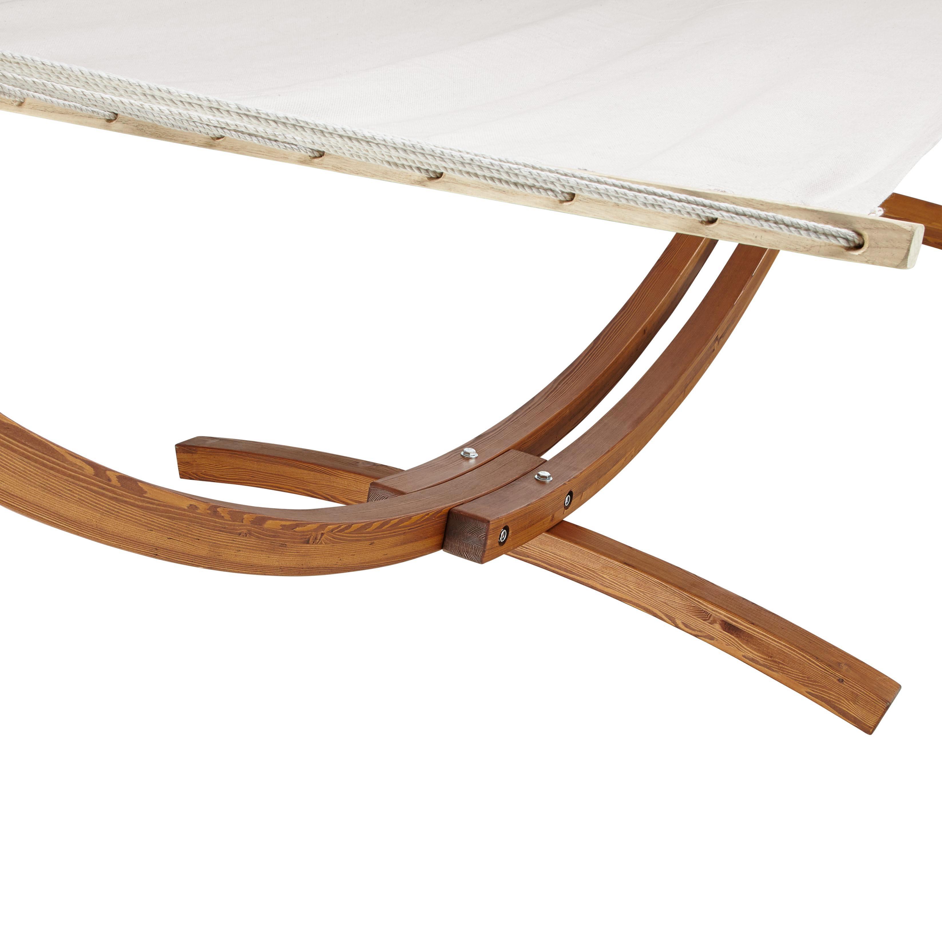 Hängematte Ciara - Beige/Braun, MODERN, Holz/Textil (312/119/123cm) - MÖMAX modern living