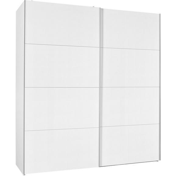 Schwebetürenschrank in Weiß Hochglanz - Weiß, Holzwerkstoff (202/220/63cm) - Modern Living