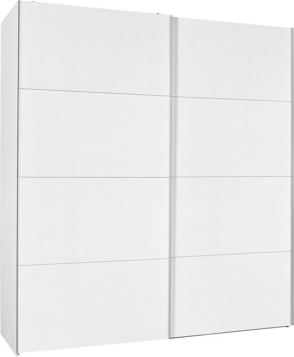 Schwebetürenschrank Weiß Hochglanz - Weiß, Holzwerkstoff (202/220/63cm) - Modern Living