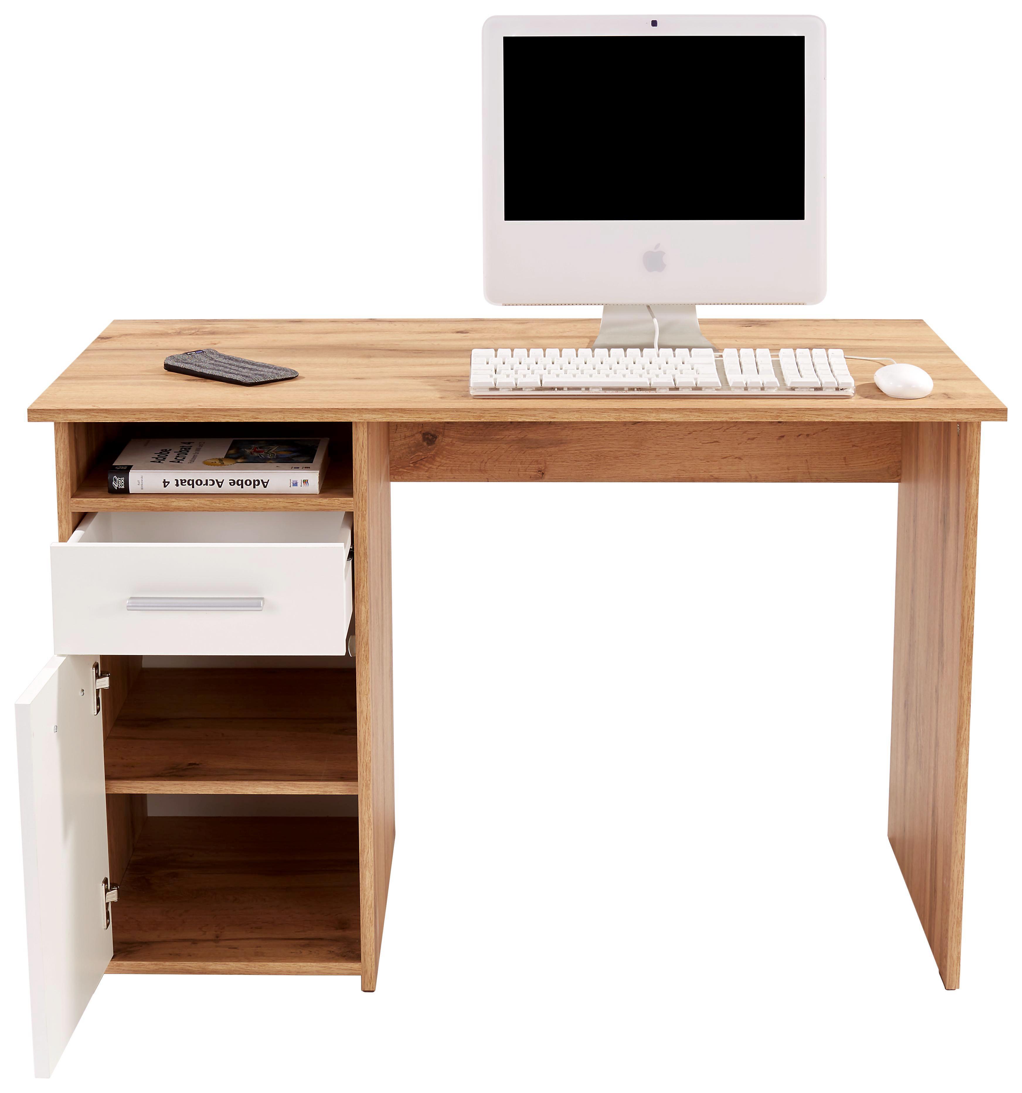 Íróasztal Palermo - barna/tölgy színű, modern, faanyagok (110/74/60cm)