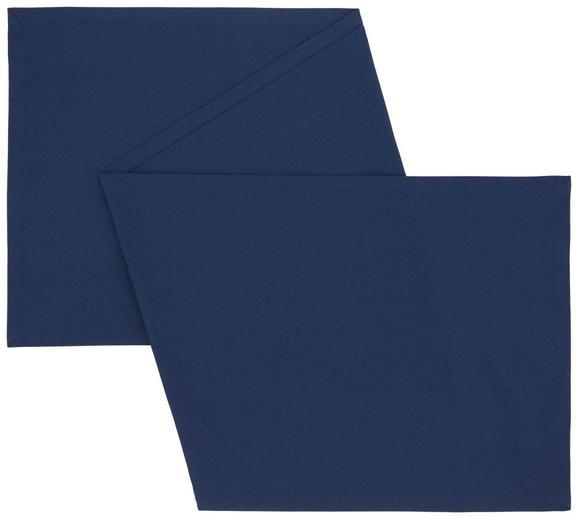 Asztali Futó Steffi - Sötétkék, Textil (45/150cm) - Mömax modern living
