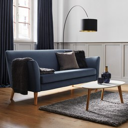 DREISITZER-SOFA Patrick - Blau, MODERN, Holz (200/84/84cm) - Modern Living