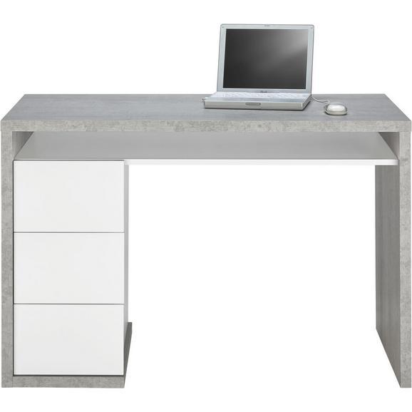 Schreibtisch grau wei online kaufen m max for Schreibtisch hochglanz grau