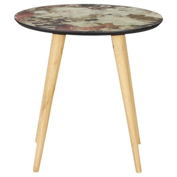 Beistelltisch Bunt - Multicolor/Naturfarben, ROMANTIK / LANDHAUS, Holz (50/49cm) - Zandiara