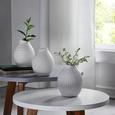 Vase Nova Weiß - Weiß, MODERN, Keramik (10/14cm)