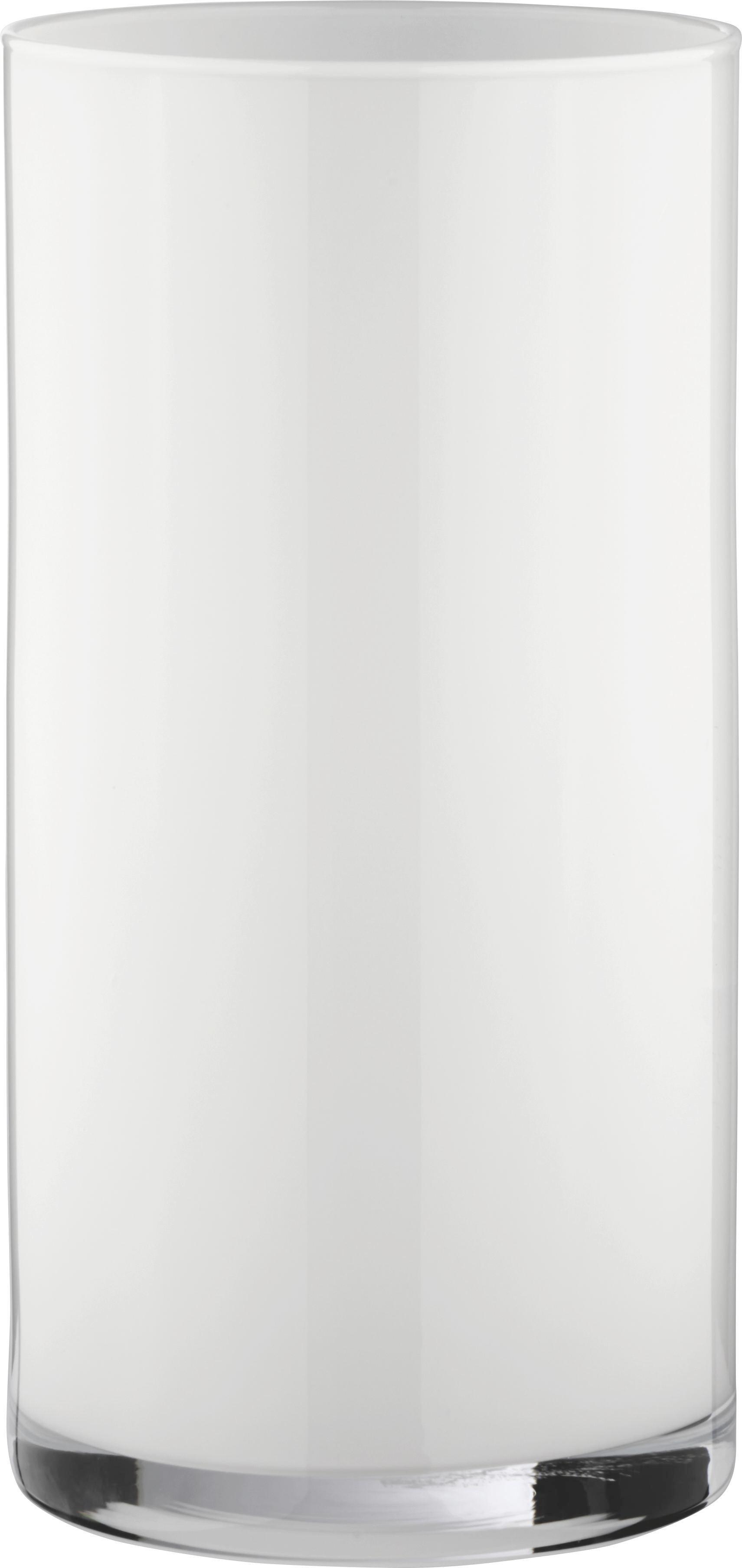 Vase Vivien II  in Weiß aus Glas - Weiß, MODERN, Glas (15/30cm) - MÖMAX modern living