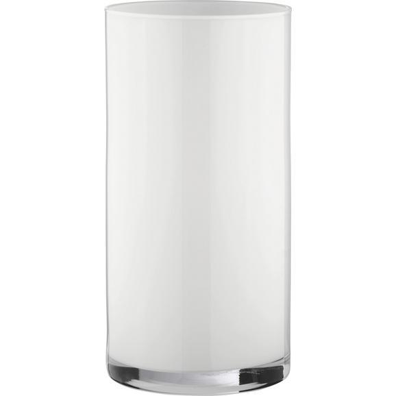 Vase Vivien II  Weiß - Weiß, MODERN, Glas (15/30cm) - Mömax modern living