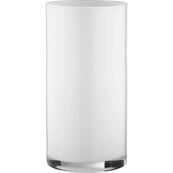 Vaza Vivien Ii - bela, Moderno, steklo (15/30cm) - Mömax modern living