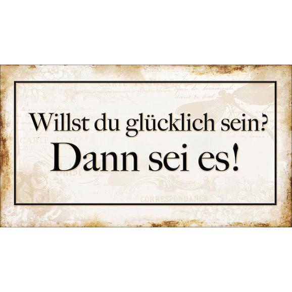 Dekopaneel Sarah, ca. 27x15x1,1cm - Beige/Schwarz, MODERN, Holzwerkstoff (27/15/1,1cm) - Mömax modern living