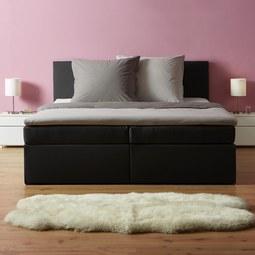Boxbett Lucy ca.180x200cm inkl. Topper - Dunkelgrau, MODERN, Holz/Textil (205/186/103cm) - Mömax modern living