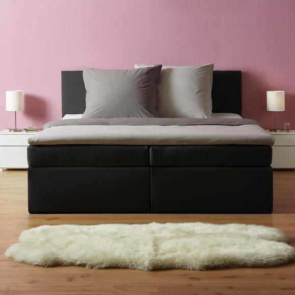 Boxspringbett in Grau ca. 180x 200cm inkl. Topper 'Lucy' - Dunkelgrau, MODERN, Holz/Textil (205/186/103cm) - Bessagi Home