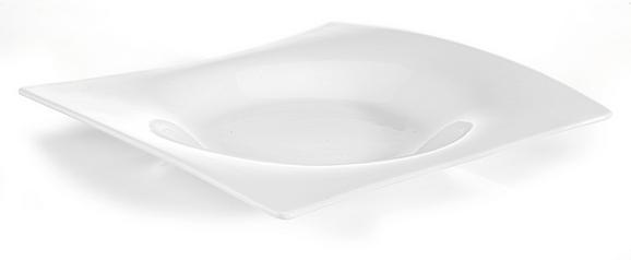 Globoki Krožnik Tacoma - bela, Trendi, keramika (25/3/23,5cm) - Premium Living