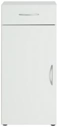 Kommode Weiß - Alufarben/Weiß, Holzwerkstoff/Kunststoff (45/98/40cm)