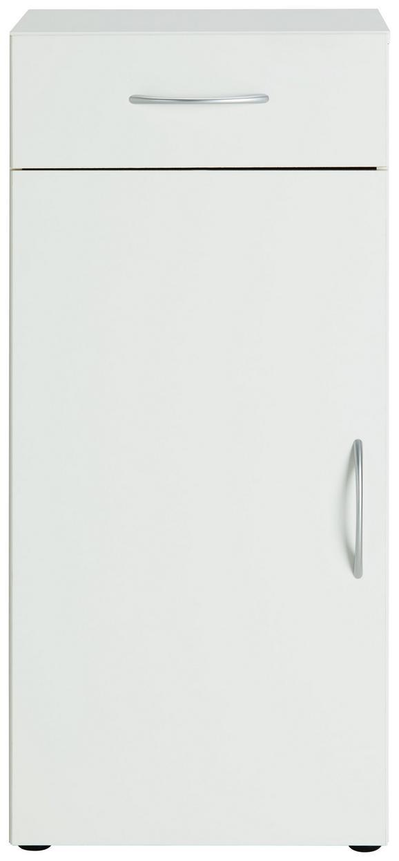 Komoda Mrk - aluminij/bela, umetna masa/leseni material (45/98/40cm) - Mömax modern living