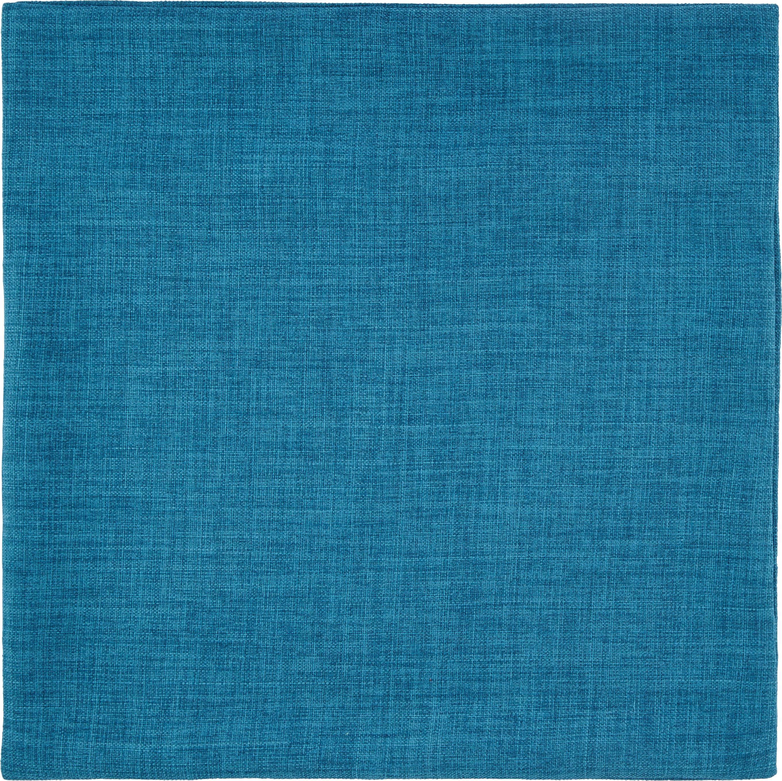 Párnahuzat Leinenoptik - türkiz, konvencionális, textil (50/50cm) - MÖMAX modern living
