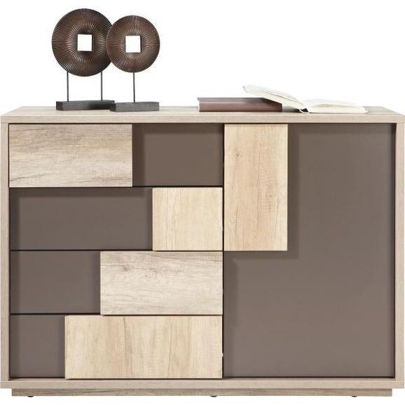 Comodă Vobis - maro/culoare lemn stejar, Modern, plastic/compozit lemnos (115/82/45cm) - James Wood