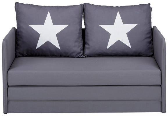 Trosjed Na Razvlačenje Hugo Star - bijela/siva, Modern, tekstil/plastika (116/69/64cm) - Modern Living