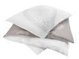 Mako-Satinbettwäsche Paisley Paisley Weiß/taupe 200x200cm - Taupe/Weiß, LIFESTYLE, Textil (200/200cm) - Premium Living