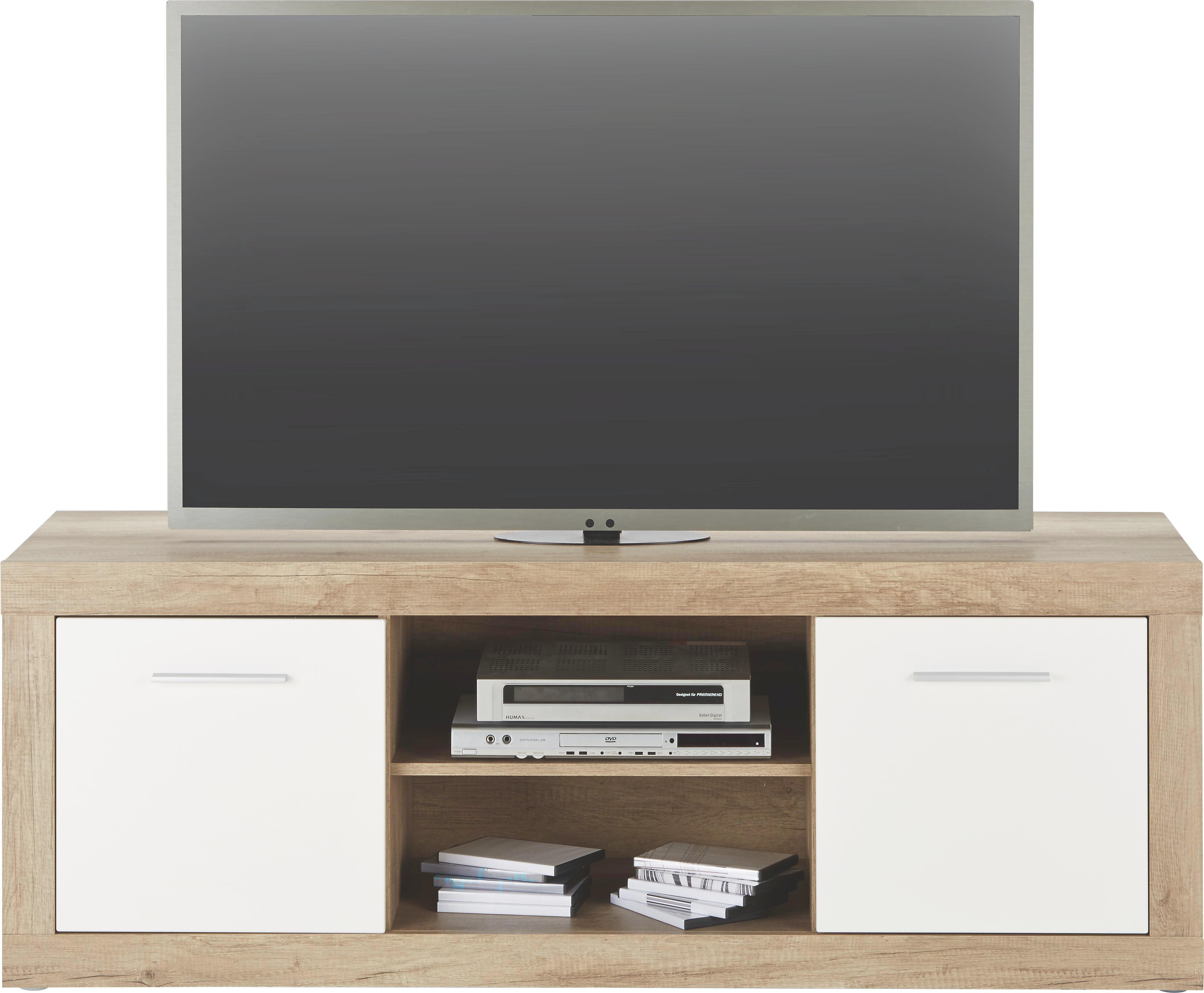TV-Element Weiß Hochglanz - Alufarben/Weiß, MODERN, Holzwerkstoff/Kunststoff (160/58/49cm) - MÖMAX modern living