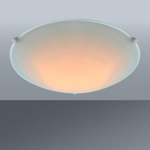 Deckenleuchte Maggie max. 60 Watt - Weiß, KONVENTIONELL, Glas/Metall (25/6,5cm) - Based