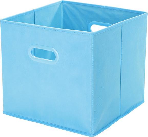 Aufbewahrungsbox Elli - Türkis, KONVENTIONELL, Karton/Kunststoff (33/33/32cm) - MÖMAX modern living