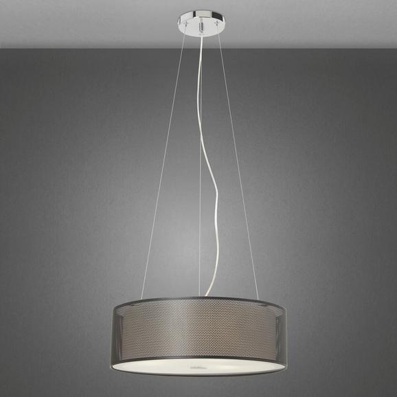 Hängeleuchte Cora - Schwarz, Glas/Metall (40/100cm) - MÖMAX modern living